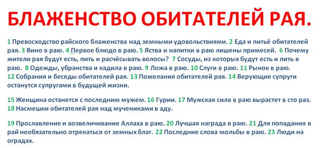 6. БЛАЖЕНСТВО ОБИТАТЕЛЕЙ РАЯ.
